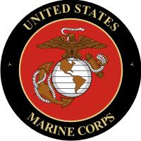 USMC Seal (v3) Black Background Decal
