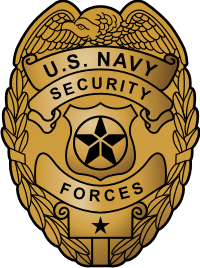US Navy Security Forces Badge (Gold) Decal