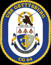 USS Gettysburg CG-64 Decal