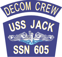 USS Jack Decom Crew Decal