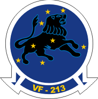 VF-213 Fighter Squadron 213 Black Lions Decal