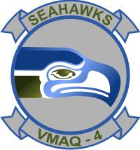 VMAQ-4 Marine Tactical Electronic Warfare Squadron Decal