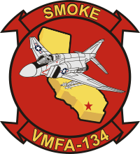 VMFA-134 Marine Fighter Attack Squadron Decal