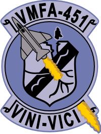 VMFA-451 Marine Fighter Attack Squadron - F4 Decal
