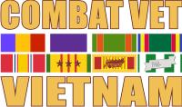 Combat Veteran (v3) - Vietnam Decal