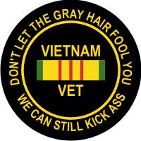 Vietnam Vet Still Kicks Decal
