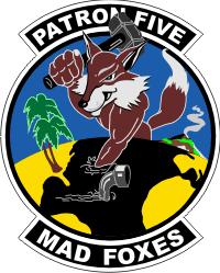 VP-5 Patrol Squadron 5 Fox Decal
