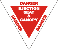 Warning Label Ejection Seat (2) Decal