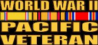 World War II Pacific Veteran Decal