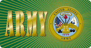 Army Seal Magnet with Text