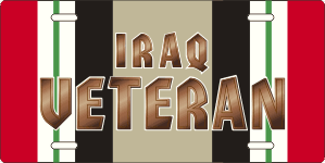 Iraq Campaign Ribbon Veteran License Plate