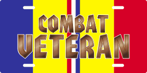 Combat Action Ribbon Veteran License Plate