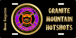 Granite Mountain Hotshots License Plate (Purple)