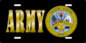 Army License Plate (Black)