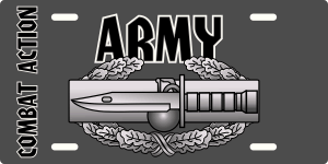 Army Combat Action Badge License Plate