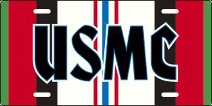 USMC Afghanistan Service Ribbon License Plate
