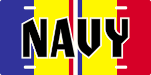 Navy Combat Action Ribbon License Plate