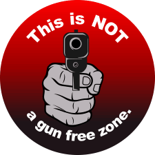 This is NOT a Gun Free Zone Magnet
