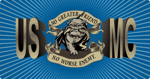 USMC Seal Magnet with Text (3) Decal