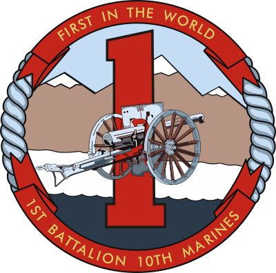 1st Battalion, 10th Marine Regiment Decal