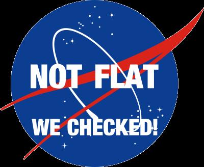 NASA Not Flat Decal