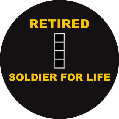 Army CW4 Chief Warrant Officer 4 Retired Decal
