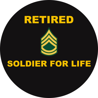 Army E-7 Sergeant First Class Retired Decal