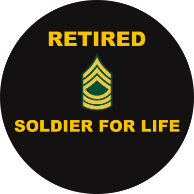Army E-8 Master Sergeant Retired Decal