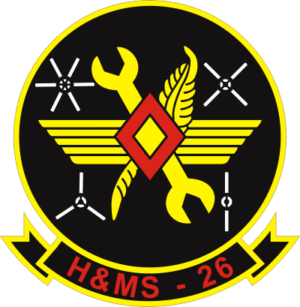 H-MS-26 Headquarters and Maintenance Squadron Decal