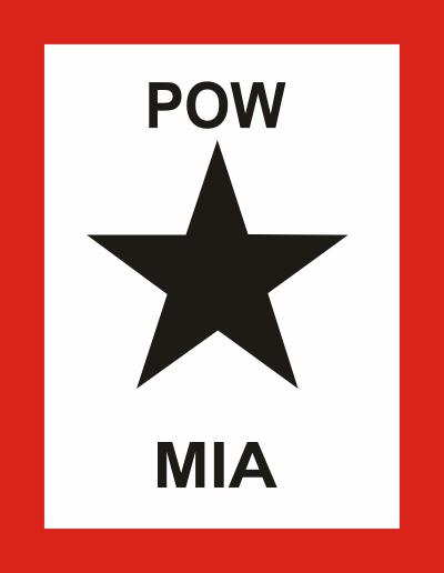 Black Star Flag Family Member POW-MIA Decal
