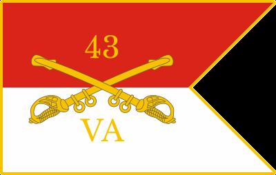 43rd Virginia Cavalry Battalion Decal